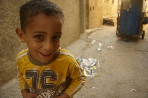 Kid in Askar Refugee Camp