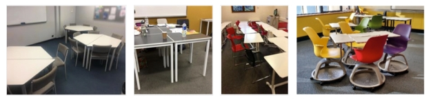 Photos of classroom furniture, desk, chairs, etc. as described in blog post