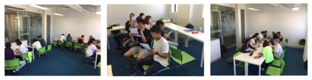 Photos of 3 different classroom layouts as described in blog post